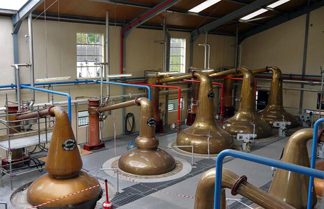 Wash- und Spirit-Stills bei Glenfiddich. (Foto: Alkoblog)