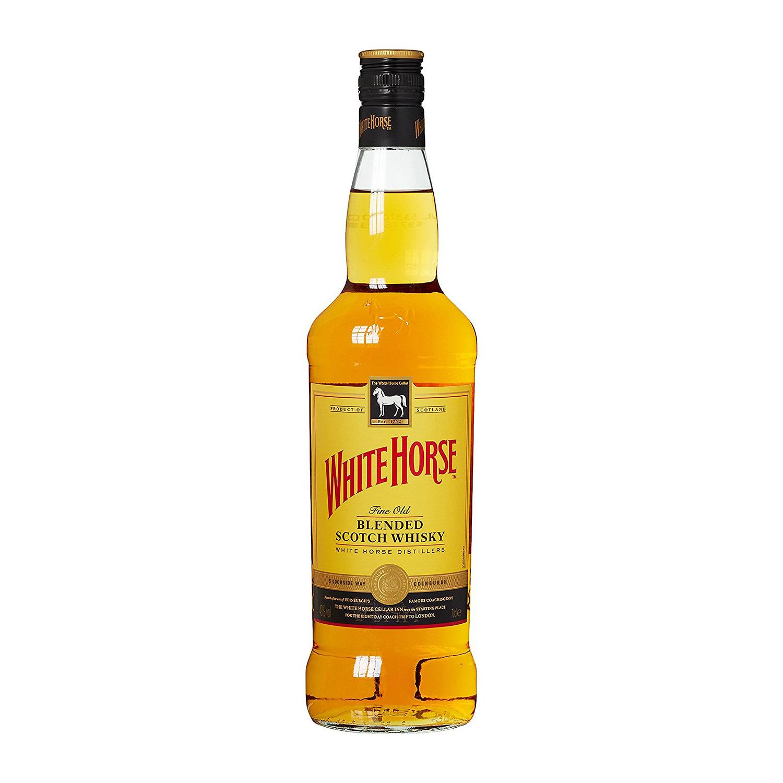 Die aktuelle Flasche des White Horse Scotch Whisky hat eine Schlankheitskur hinter sich (Foto: Amazon)