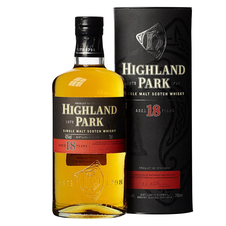 Von der schottischen Insel Orkney kommt der Highland Park 18 Jahre. (Foto: Amazon)