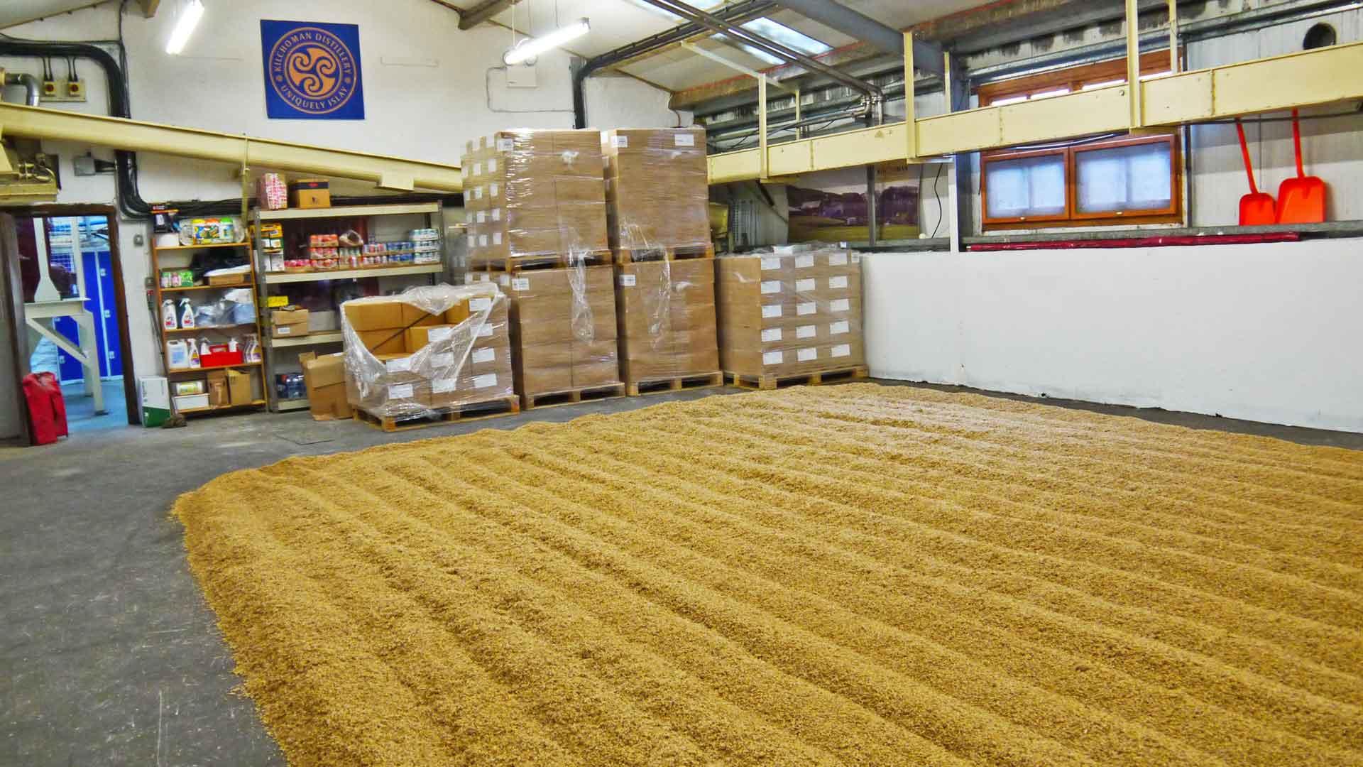 Die Malting Floors bei Kilchoman. (Foto: Malt Whisky)