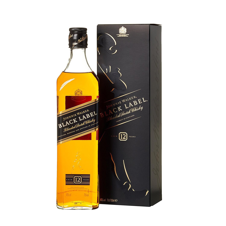 Der Johnnie Walker Black Label ist ein milder Blend der sich auch in Cocktails und Drinks gut macht.