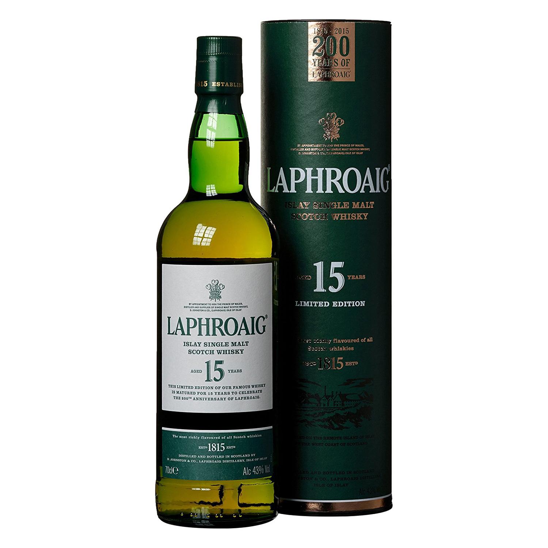 Der Laphroaig 15 Jahre wurde anlässlich des 200. Jubiläums der Destillerie herausgebracht. (Foto: Amazon)