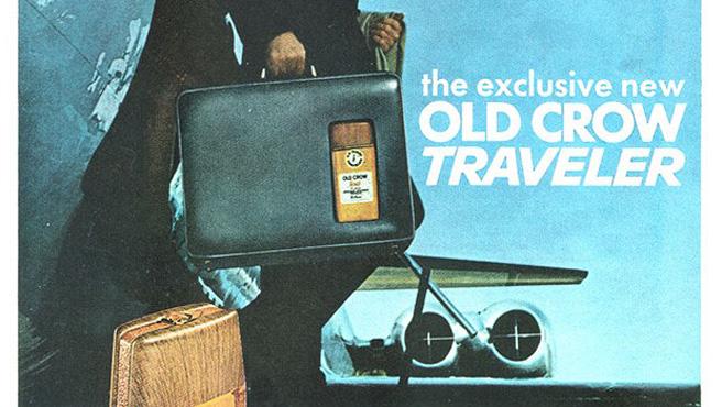 Immer im Gepäck: So wirbt Old Crow in den 60ern für seinen Whisky.