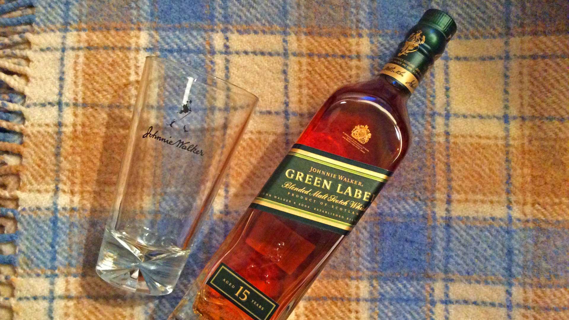 Im Johnnie Walker Green Label 15 Jahre sind keine Grain-Whiskys sondern ausschließlich Single Malts enthalten. (Foto: Alkoblog)