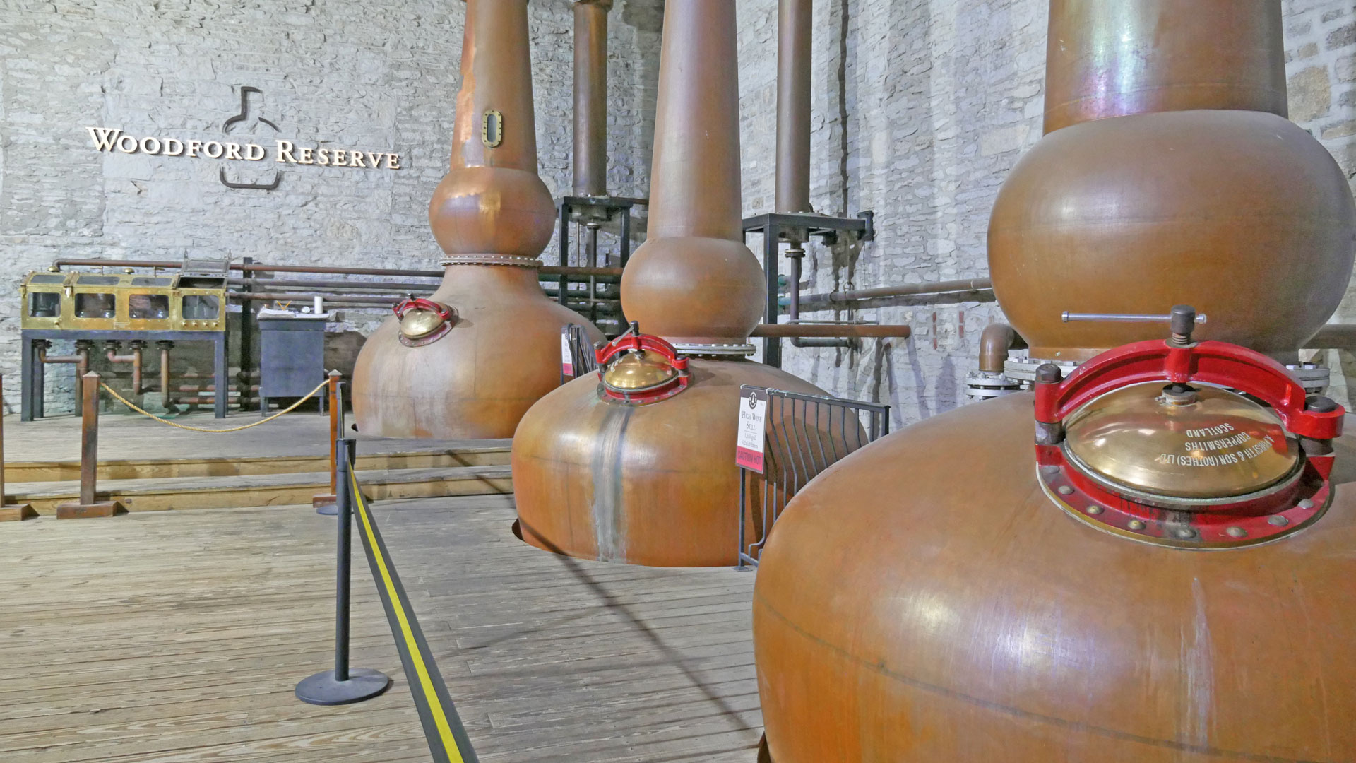 Pott Stills in der Woodford Reserve Distillery. (Foto: Malt Whisky)