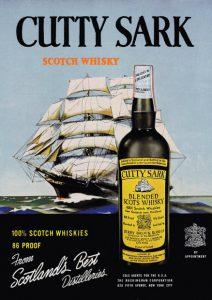 Werbeanzeige für Cutty Sark aus den 1950er Jahren (Foto: cutty-sark.com)