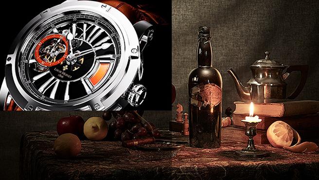 Bitte nicht austrinken: Glenlivet 1862 in der Luxus-Armbanduhr (Foto: Wealth Solutions)