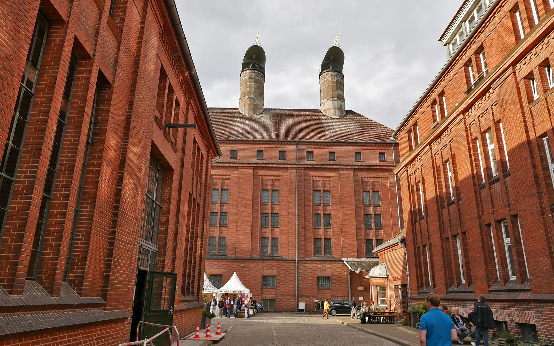 Passende Kulisse: Wir haben den Glenfiddich IPA beim Whiskyherbst in der Malzfabrik verkostet, einer ehemaligen Brauerei (Foto: Alkoblog)