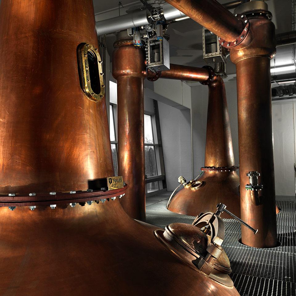Aus diesen Brennblasen von Forsyth fließen die Mackmyra-Whiskys (Foto: Simon Cederqvist, Johan Olsson / Mackmyra)