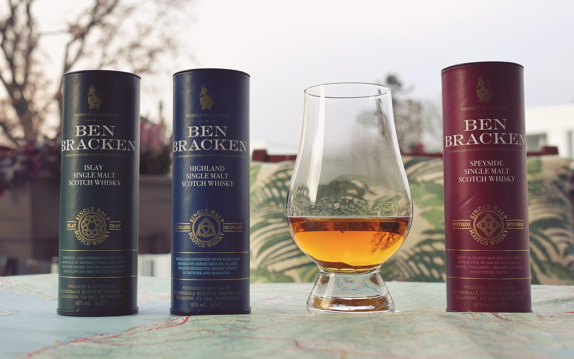 Auf den kleinen Dosen der Ben Bracken-Whiskys sind sogar offizielle Tasting Notes abgedruckt (Foto: Malt Whisky)