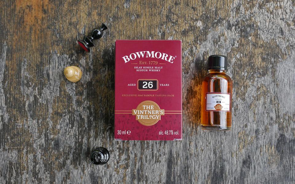 Der Bowmore 26 Jahre ist Teil der Vintner's Trilogy, welche aus drei reifen Single Malts besteht (Foto: Malt Whisky)