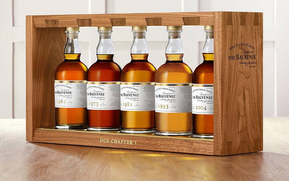 Fünf alte Balvenie-Whiskys hat David C. Steward für die DCS-Edition Chapter 3 ausgewählt (Foto: Hersteller)